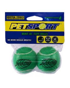 PETSPORT Tuff Mint Ball 2Pk Green, 5Cm