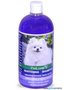Pet Lovers Whitening Shampoo For White Coats 1 Ltr