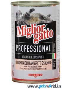 Morando Miglior Gatto Professional Shrimp and Salmon Chunks 405 gms