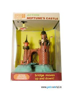 PENN PLAX Action Neptune's Castle Underwater Ornament For Aquarium