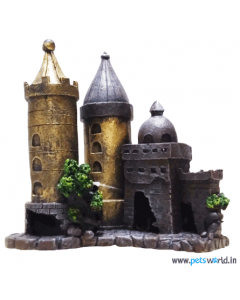 Aqua Geek Bronze Castle For Fish Aquariums