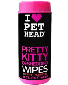 Pet Head Pretty Kitty Deshedding Wipes 50 Wipes