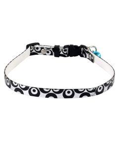 Petsworld High Quality Durable Adjustable Printed Pet Soft Collar for Puppy - Cats - Kitten Black