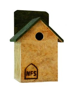 Nature Forever House Shaped Sparrow And Tit Nest Box