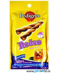 Pedigree Dog Treat Rodeo Chicken and Liver 90 gms