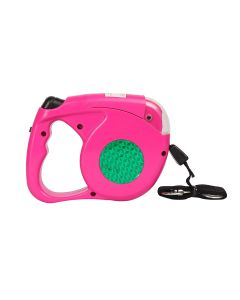 Petsworld Retractable Dog Leash with Detachable Flashlight Led Torch for Pets (Pink)