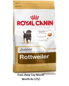 Royal Canin Rottweiler Junior Dog Food 3 Kg Plus Free Chew Toy