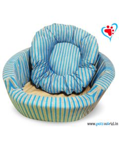 DOGEEZ Cabana Lounger Bed Blue - Large