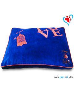 "DOG EEZ Rectangular Dog Bed Large (Blue) 40""x30"" (M - L)"