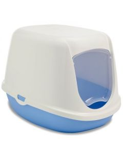 SAVIC Duchesse Litter Box White-Blue