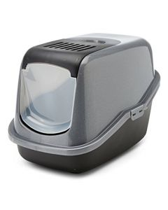 SAVIC Nestor Cat Toilet Silver-Black