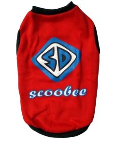 DOG EEZ Winter Dog Tshirt SCOOBEE Red 18 inches