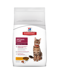 Hills Science Diet Optimal Care Adult Cat food  1-6  Chicken Recipe 2 kg