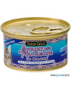 Solid Gold Shrimp and Tuna Gravy Can Cat Food 170 gm