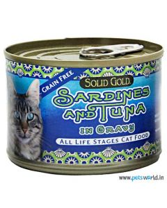 Solid Gold Sardine & Tuna Gravy Can Cat Food 170 gm