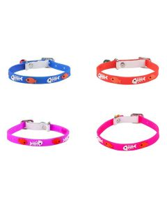Petsworld High Quality Classic Solid Color Soft Silicon Adjustable Puppy - Cats - Kitten Collar - Set of 4