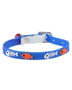 Petsworld High Quality Classic Solid Color Soft Silicon Adjustable Puppy - Cats - Kitten Collar - Blue