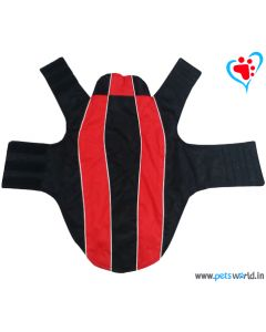 DOGEEZ Black And Red Dog Jacket 14 inches