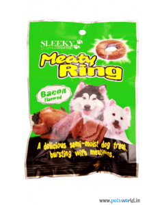 Sleeky Meaty Ring Bacon Flavored Dog Treats 70 gms
