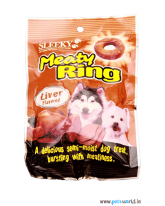 Sleeky Meaty Ring Liver Flavored Dog Treats 70 gms