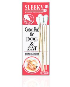 Sleeky Cotton Bud For Dog And Cat 50 Pcs