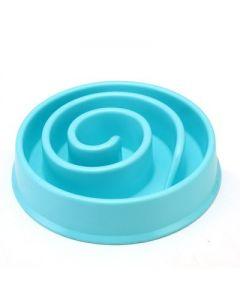 Petsworld Eco-Friendly Non-Toxic Fiber Slow Feed Dog Bowl Blue