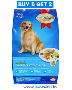 SmartHeart Dog food Adult Chicken & Egg 500gm (Buy 5 Get 2 Free)