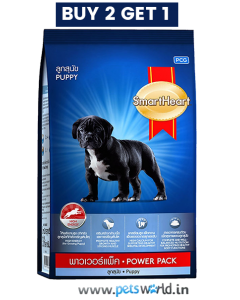 SmartHeart Dog Food  Power Pack Adult 1 kg (Buy 2 Get 1 Free)