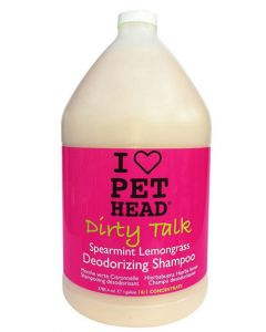Pet Head Dirty Talk Spearmint Lemongrass Deodorizing Dog Shampoo 3.7 ltr