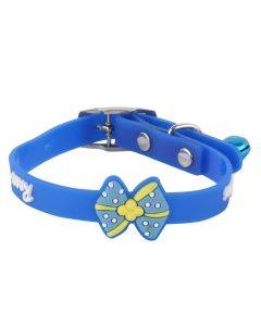Petsworld High Quality Stylish Adjustable Soft Collar for Puppy & Cats - Blue