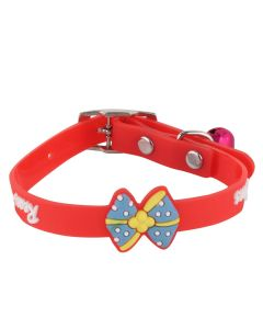 Petsworld High Quality Stylish Adjustable Soft Collar for Puppy & Cats - Red