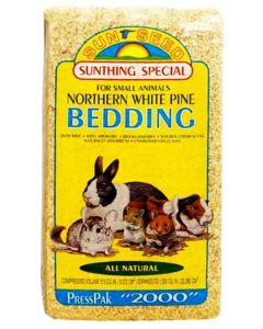 Sunthing White Pine Bedding For Small Animals Presspak 2000