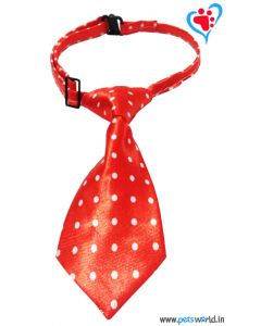 Dogeez Puppy/Mini Breed Adjustable Dog Tie - Polka Glowy