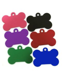 Pet ID Tags Colored Bone