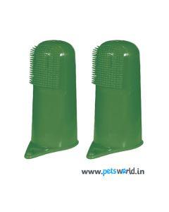 Dog Toothbrush Pair Dark Green
