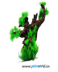 Aqua Geek Aquarium Resin Tree with Plant (L) CH-6014P