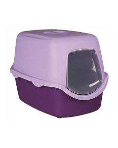 Trixie Vico Cat Litter Tray With Dome Purple/Lilac -LxBxH : 23x16x16 inch