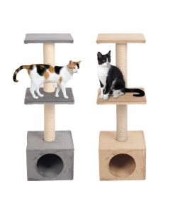 Karlie Cream Box Scratching Tree For Cats