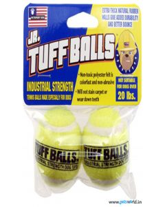 Petsport Jr. Tuff Balls Dog Toy 2 pcs