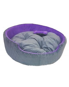 Petsworld Tub Bed With Bone Pillow for Dogs Large