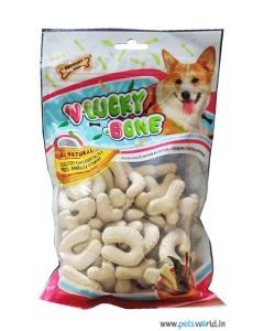 Gnawlers Dog Treats V-Lucky Bone (Calcium) 270 gms