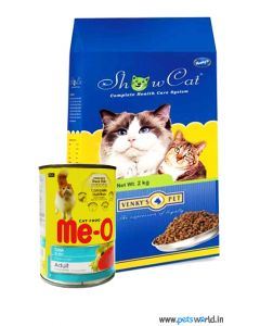 Venkys Show Cat Health Care Cat Food 4 Kg + Meo Gravy Can 400gm COMBO