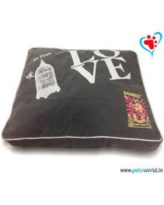 "DOG EEZ Rectangular Dog Bed (BE FREE in White) 40""x30"" (M - L)"