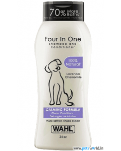 Wahl Four In One Shampoo And Conditioner For Dogs (709 ml)