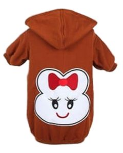 Petsworld Winter Patch Hoodie For Dogs Size 30 Brown