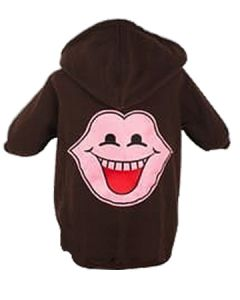 Petsworld Winter Patch Hoodie For Dogs Size 30 Chocolate Brown
