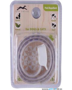 Pets Empire White And Blue Pest Repellent Dog Collar