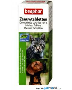 Beaphar Nat Melissa Stress Removing Tablets For Dogs and Cats 20 tabs